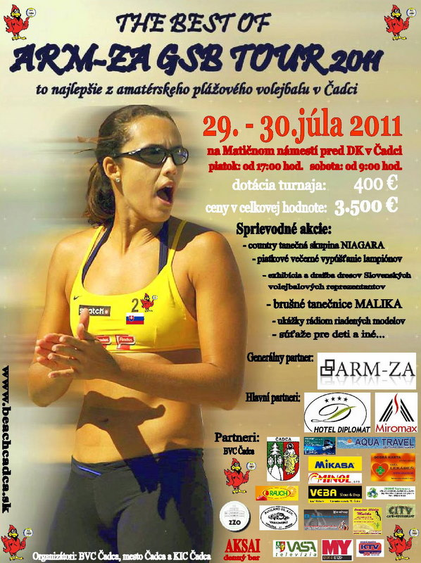 THE BEST OF ARM-ZA GRAND SLAM BEACH TOUR 2011 - plagát